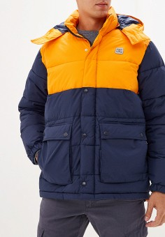 Куртка утепленная, DC Shoes, цвет: оранжевый, синий. Артикул: DC329EMFPTY0.