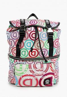Рюкзак, Desigual, цвет: белый. Артикул: DE002BWHTVI0.