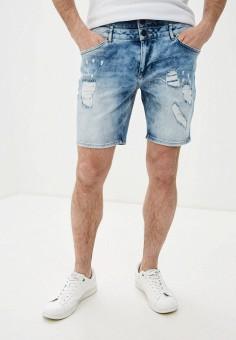 Шорты джинсовые, Desigual, цвет: голубой. Артикул: DE002EMHTVH2.