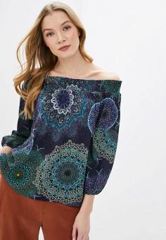 Блуза, Desigual, цвет: синий. Артикул: DE002EWGPJS7.