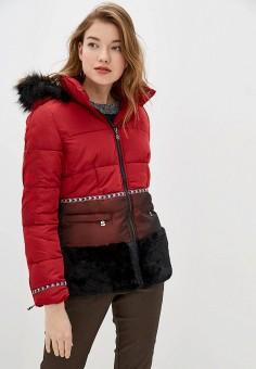 Куртка утепленная, Desigual, цвет: красный. Артикул: DE002EWGPJV1. Одежда / Верхняя одежда / Демисезонные куртки