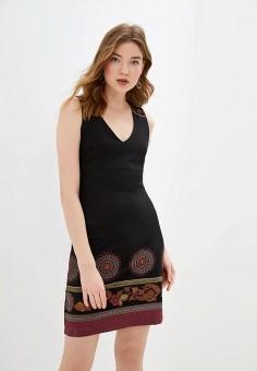 Платье, Desigual, цвет: черный. Артикул: DE002EWGPKF1.
