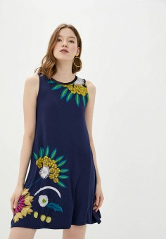 Платье, Desigual, цвет: синий. Артикул: DE002EWHUAE9.