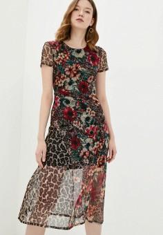 Платье, Desigual, цвет: коричневый. Артикул: DE002EWHUAF7.
