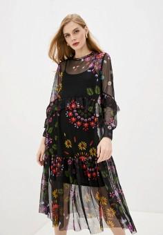 Платье, Desigual, цвет: черный. Артикул: DE002EWHUAF8.