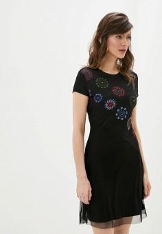 Платье, Desigual, цвет: черный. Артикул: DE002EWHUAF9.