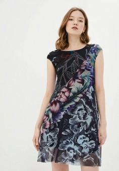 Платье, Desigual, цвет: черный. Артикул: DE002EWHUAS2.
