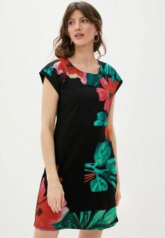 Платье, Desigual, цвет: черный. Артикул: DE002EWHUAS4.