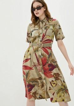 Платье, Desigual, цвет: хаки. Артикул: DE002EWHUAT2.