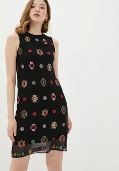 Платье, Desigual, цвет: черный. Артикул: DE002EWHUAT4.