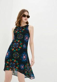 Платье, Desigual, цвет: черный. Артикул: DE002EWHUAT5.