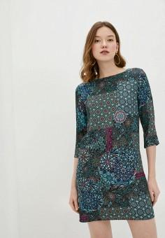 Платье, Desigual, цвет: зеленый. Артикул: DE002EWHUAU4.
