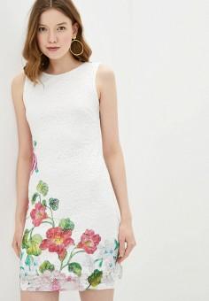 Платье, Desigual, цвет: белый. Артикул: DE002EWHUAU6.