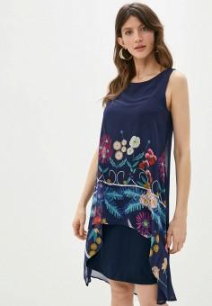Платье, Desigual, цвет: синий. Артикул: DE002EWHUAU7.
