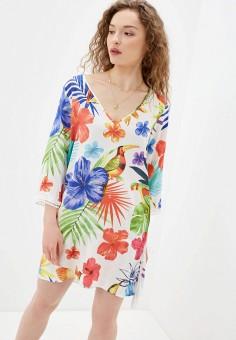 Платье, Desigual, цвет: белый. Артикул: DE002EWJDTP0.