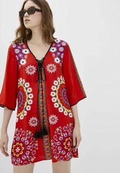 Платье, Desigual, цвет: красный. Артикул: DE002EWJDTP1.