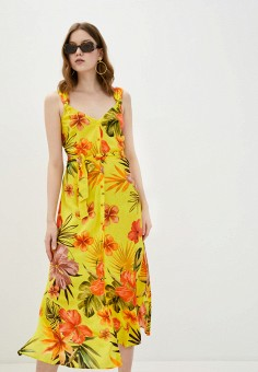 Платье, Desigual, цвет: желтый. Артикул: DE002EWJDTP2.