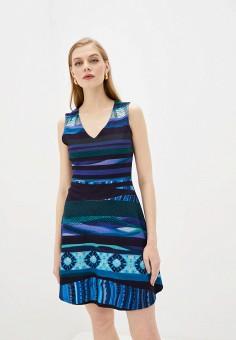 Платье, Desigual, цвет: синий. Артикул: DE002EWJDTP6.