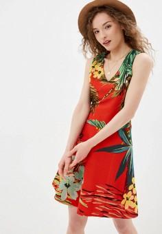 Платье, Desigual, цвет: красный. Артикул: DE002EWJDTP7.