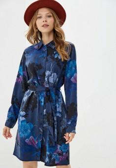 Платье, Desigual, цвет: синий. Артикул: DE002EWJXIW6. Одежда / Платья и сарафаны