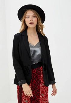 Пиджак, Desigual, цвет: черный. Артикул: DE002EWKKTG3. Одежда / Пиджаки и костюмы