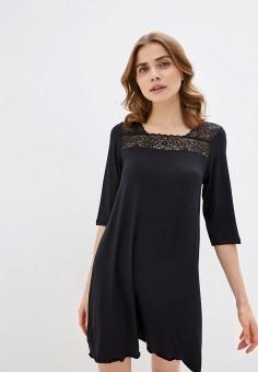 Платье домашнее, Дефиле, цвет: черный. Артикул: DE020EWIROH4. Одежда / Домашняя одежда