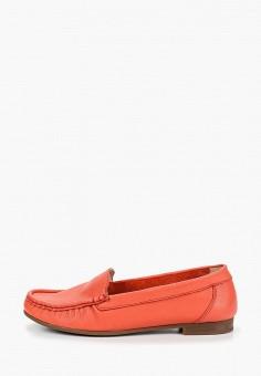 Мокасины, Der Spur, цвет: красный. Артикул: DE034AWDMLB0. Обувь / Мокасины и топсайдеры