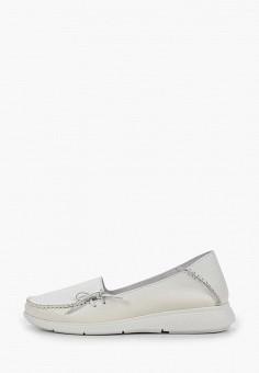 Мокасины, Der Spur, цвет: белый. Артикул: DE034AWIBOK3. Обувь / Мокасины и топсайдеры
