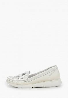 Мокасины, Der Spur, цвет: белый. Артикул: DE034AWIBOK5. Обувь / Мокасины и топсайдеры
