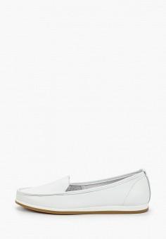 Мокасины, Der Spur, цвет: белый. Артикул: DE034AWIBOL1. Обувь / Мокасины и топсайдеры