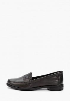 Лоферы, Der Spur, цвет: черный. Артикул: DE034AWIBRO4. Обувь / Туфли / Лоферы