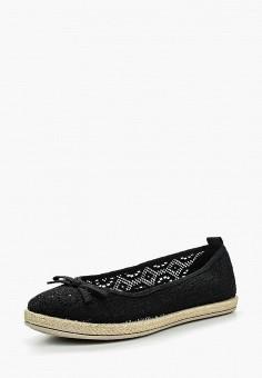 Балетки, Der Spur, цвет: черный. Артикул: DE034AWQOO73. Обувь / Балетки