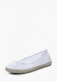Балетки, Der Spur, цвет: белый. Артикул: DE034AWQOO75. Обувь / Балетки