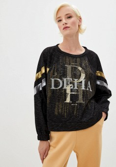 Свитшот, Deha, цвет: черный. Артикул: DE053EWKFBY3. Premium
