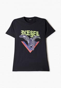 Футболка, Diesel, цвет: черный. Артикул: DI303EBIWTM2.