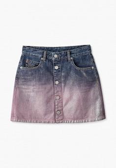 Юбка джинсовая, Diesel, цвет: мультиколор. Артикул: DI303EGJUEV0.