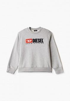 Свитшот, Diesel, цвет: серый. Артикул: DI303EKIWTN3.