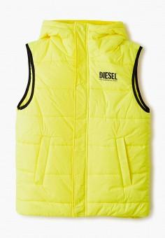 Жилет утепленный, Diesel, цвет: желтый. Артикул: DI303EKJUHO9.