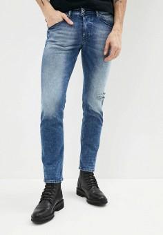 Джинсы, Diesel, цвет: синий. Артикул: DI303EMIIAY9. Одежда / Джинсы / Прямые джинсы
