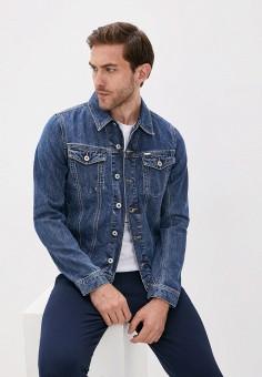 Куртка джинсовая, Diesel, цвет: синий. Артикул: DI303EMIICE9. Одежда / Верхняя одежда / Джинсовые куртки