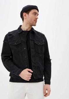 Куртка джинсовая, Diesel, цвет: черный. Артикул: DI303EMIICF2.