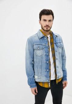 Куртка джинсовая, Diesel, цвет: голубой. Артикул: DI303EMINXA4.
