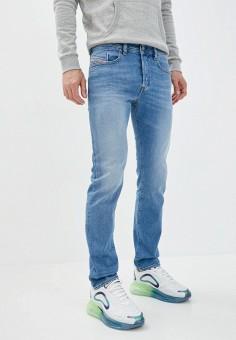 Джинсы, Diesel, цвет: голубой. Артикул: DI303EMJNOM6. Одежда / Джинсы / Зауженные джинсы