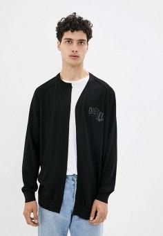 Кардиган, Diesel, цвет: черный. Артикул: DI303EMJPHN0. Одежда / Джемперы, свитеры и кардиганы / Кардиганы