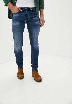 Джинсы, Diesel, цвет: синий. Артикул: DI303EMJPHS5. Одежда / Джинсы / Зауженные джинсы