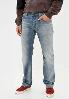 Джинсы, Diesel, цвет: голубой. Артикул: DI303EMJQYO7. Одежда / Джинсы / Прямые джинсы