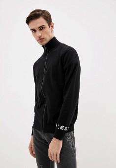 Кардиган, Diesel, цвет: черный. Артикул: DI303EMJQZG9. Одежда / Джемперы, свитеры и кардиганы / Кардиганы