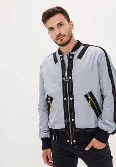 Куртка, Diesel, цвет: серый. Артикул: DI303EMJQZI6. Одежда / Верхняя одежда / Легкие куртки и ветровки