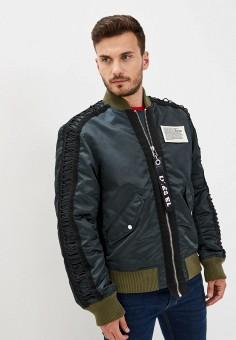 Куртка утепленная, Diesel, цвет: зеленый. Артикул: DI303EMJQZK0.