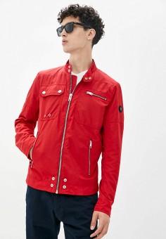 Куртка, Diesel, цвет: красный. Артикул: DI303EMJQZU7. Одежда / Верхняя одежда / Легкие куртки и ветровки